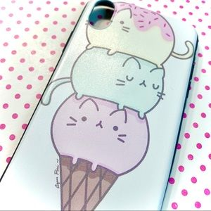 Accessories - Kawaii Pastel Ice Cream Cat Phone Case - iPhone XR
